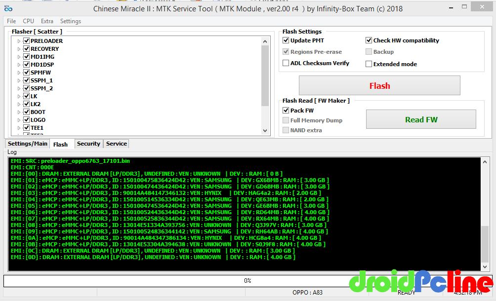 Cara Mengatasi Blank Screen Oppo A83 CPH1729 setelah Flashing