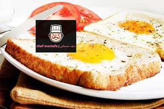 Fried eggs toast