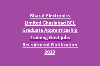 Bharat Electronics Limited Ghaziabad BEL Graduate Apprenticeship Training Govt jobs Recruitment Notification 2019