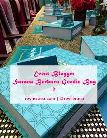 Goodie bag event blogger
