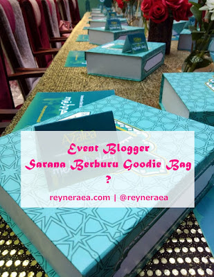 Goodie bag event blogger