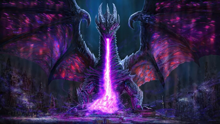 Dragon, Fire Breath, Fantasy, 4K, #4.3097