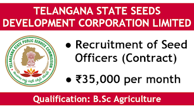 TSSDCL recruitment of seed officers telangana