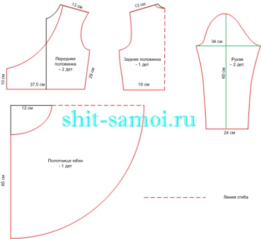 Выкройка халата с запахом - от Анастасии Корфиати 76