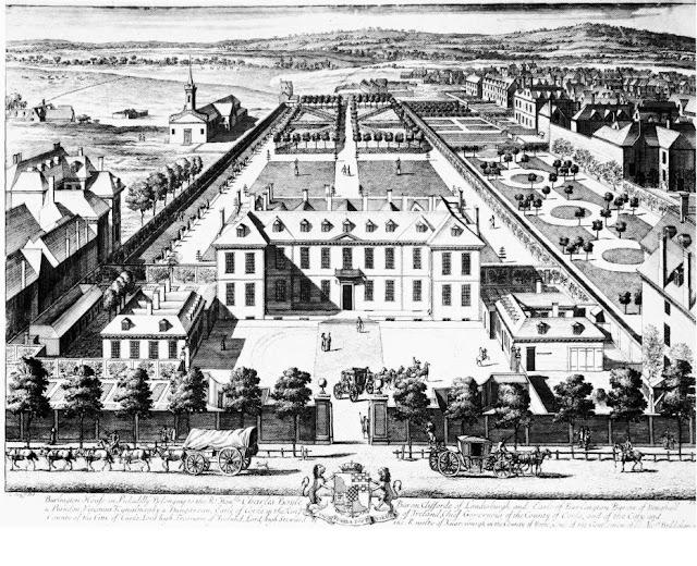 Burlington House in 1690s