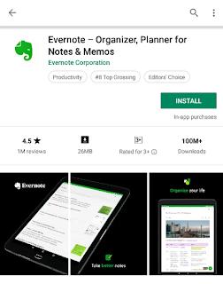 Cara Menggunakan Evernote