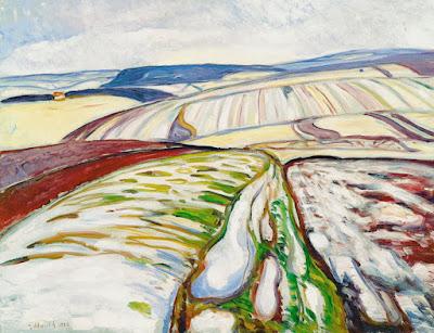 Edvard Munch -Paysage de neige