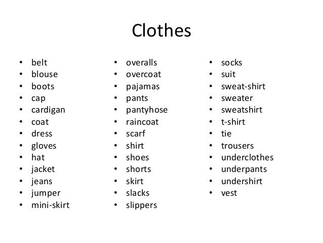 Vocabulary english 1eso