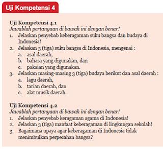 Jawaban Uji Kompetensi 4.1 dan 4.2 PKn Kelas 7 halaman 113
