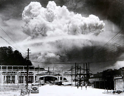 Image result for mushroom cloud above nagasaki august 9th 1945