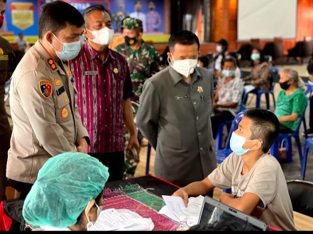 Polres Taput Gelar Vaksinasi untuk 1.200 Sasaran