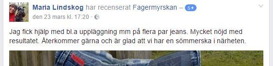 Sömmerska Varberg Fagermyrskan