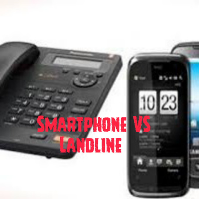 Difference between a smartphone and landline which was used earlier