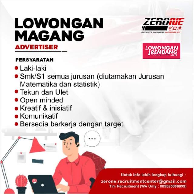 Lowongan Magang Advertiser Zerone Pati