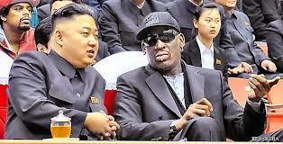 Kim Jong Un dan Dennis Rodman
