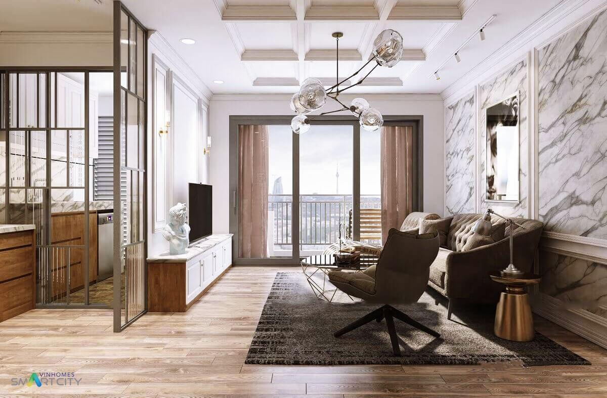 Thiết kế căn hộ hạng sang chung cư Vinhomes Smart City