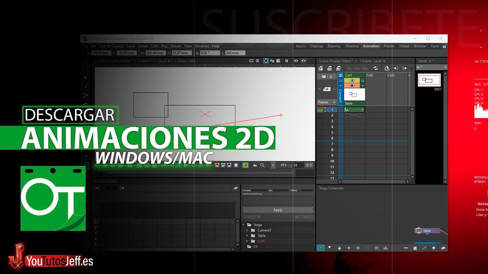 Productor de Animaciones 2D, Descargar OpenToonz Ultima Versión