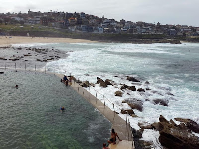 Bronte Beach Rocks Swimming Pool in Sydney Australia