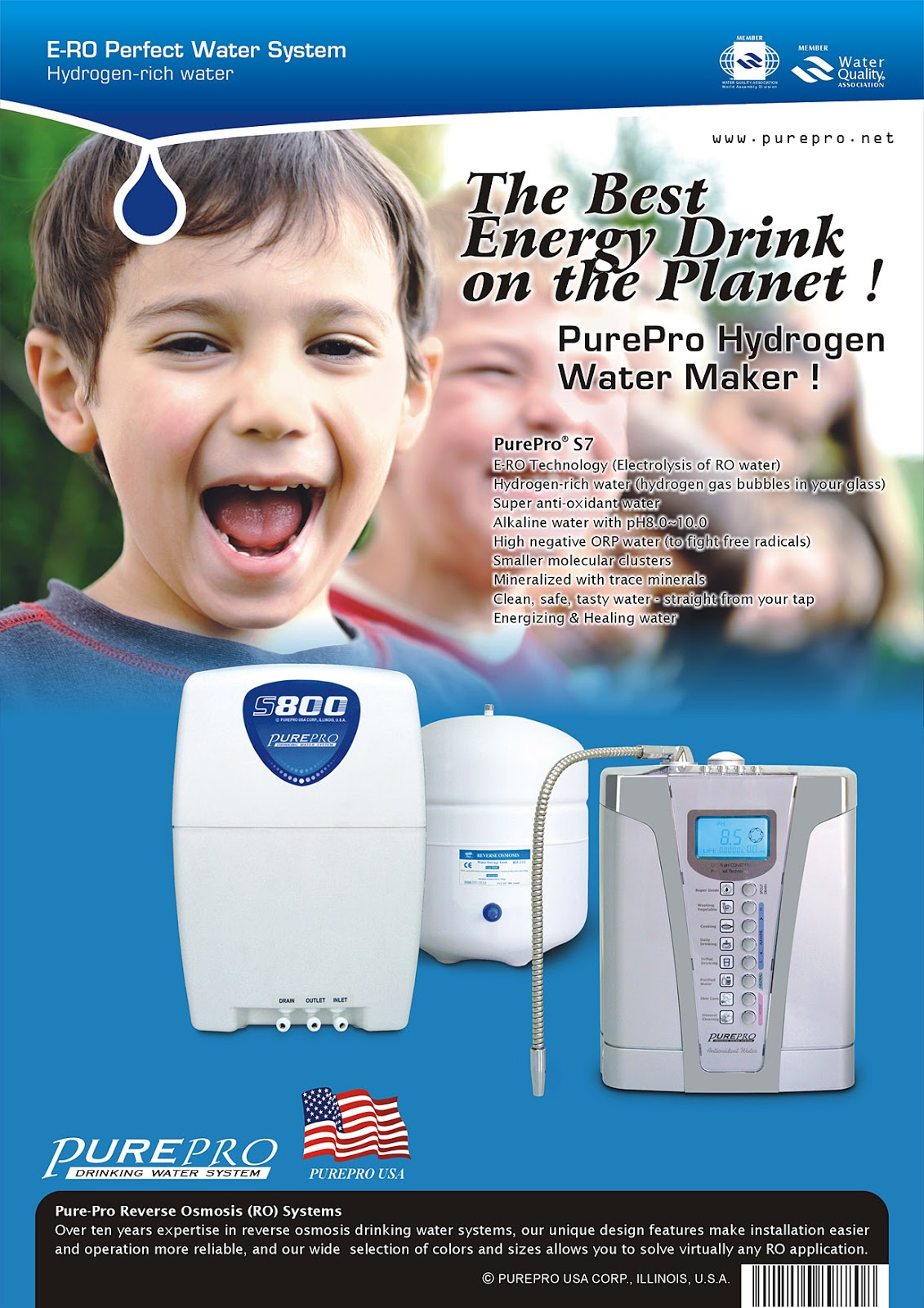 PurePro® Perfect Water System S5 - A Combination of The Best of World ( RO + Water Ionizer) ERO-S5