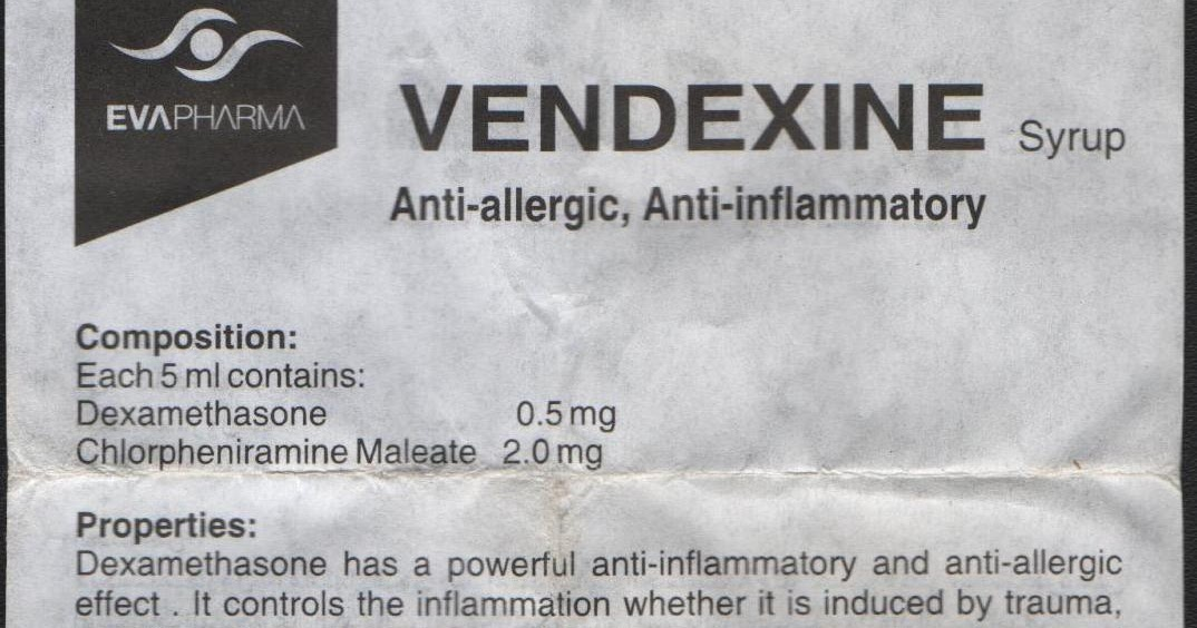 Drug Pamphlet: VENDEXINE
