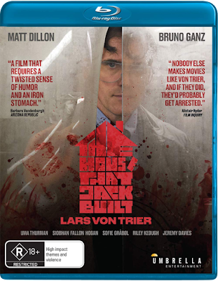 Umbrella Entertainment's THE HOUSE THAT JACK BUILT Blu-ray Cover.