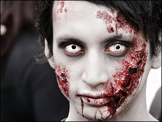 Simple Halloween Zombie Costumes Make Up Ideas For Girl