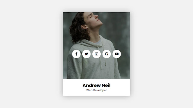 Animated Profile Card Design in HTML and CSS