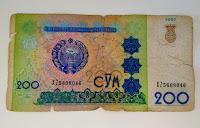 Le Chameau Bleu - Blog Voyage Ouzbékistan - billet ouzbek de 200 sums - Ouzbékistan - ousbek