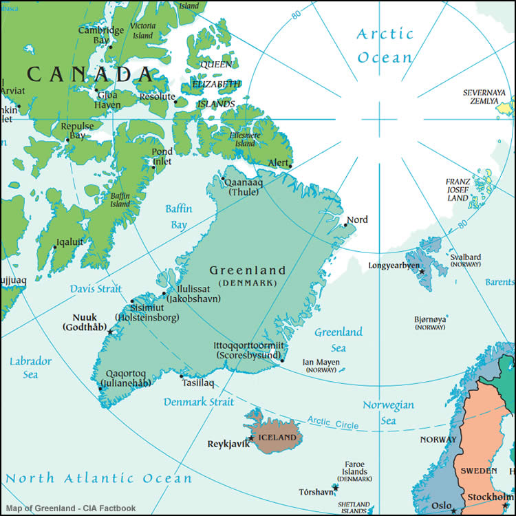 Map Southern Tip Greenland