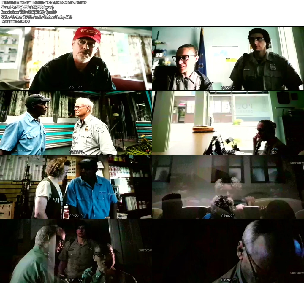 The Dead Don't Die 2019 HDCAM x264 | 480p 300MB | 100MB HEVC Screenshot