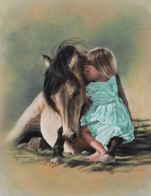 caballo-con-niña