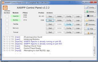 server xampp menjadi fungsi