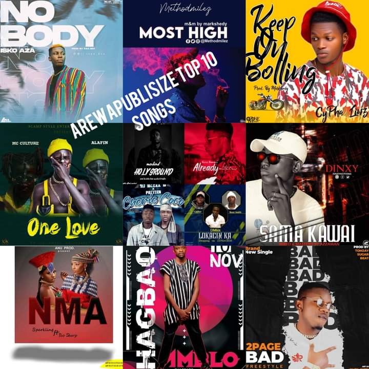 Arewapublisize top 10 songs - Ending November 2020 - Hosted by Hypeman Vizzy #Arewapublisize