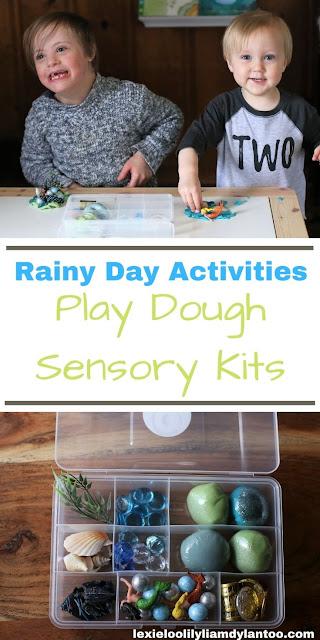 Rainy Day Activities - Play Dough Sensory Kits