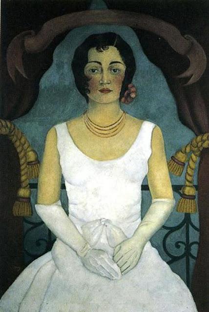 Фрида Кало - портрет женщины в белом. 1930