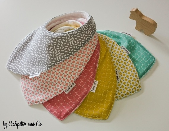 bavoir bandana tissu