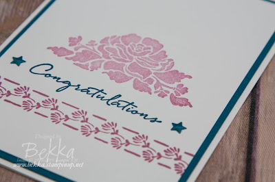 Stylish Floral Congratulations Card featuring the Floral Phrases Stamp Set from Stampin' Up! UK - buy Stampin' Up! UK here.  Join Stampin' Up! UK here.