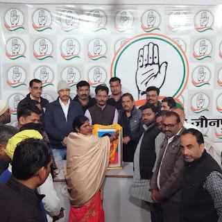 कांग्रेस कार्यकर्ताओं ने मनायी सावित्रीबाई फुले की जयंती | #NayaSaberaNetwork