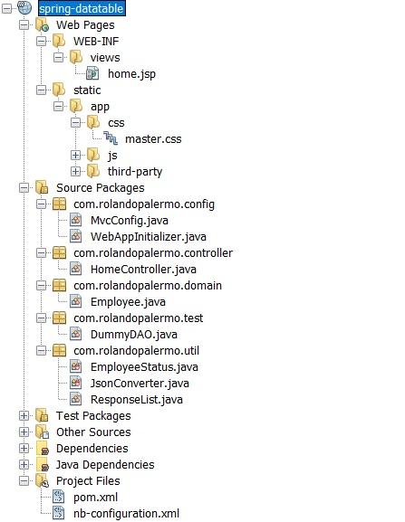 RolandoPalermo :: : How to use Jquery datatable in Spring MVC