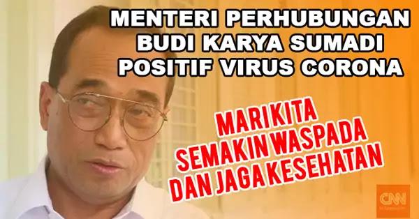 Viral, Menhub Budi Karya Positif Virus Corona