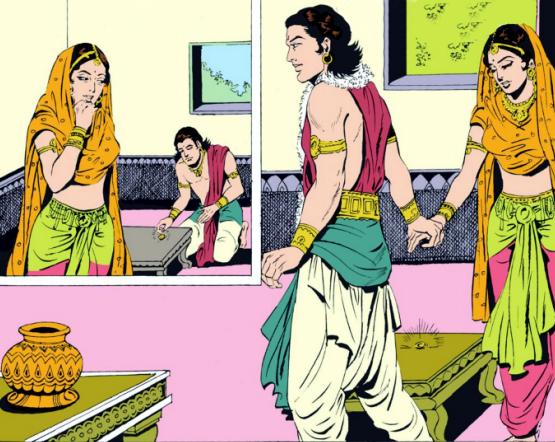 Pradyumna weds Prabhavati in Gandharva form of marriage
