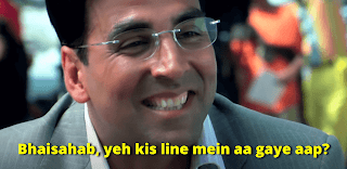 Bhaisahab ye kis line mai aagye aap, Akshay kumar as rajeev | best welcome movie meme templates & dialogue