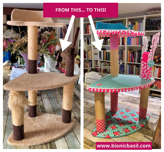 Valentine's Special Crafting with Cat ©BionicBasil® The Best Cat Tree Makeover In The World