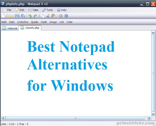 Best Notepad alternatives for Windows