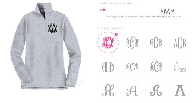 customization for your monogram items
