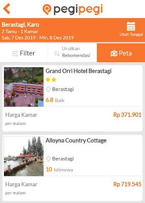 Cari hotel berastagi di Pegipegi