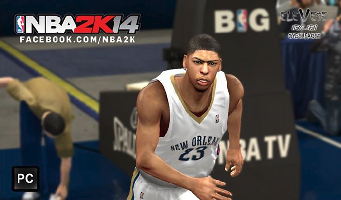 NBA 2K14 Anthony Davis Cyberface Patch