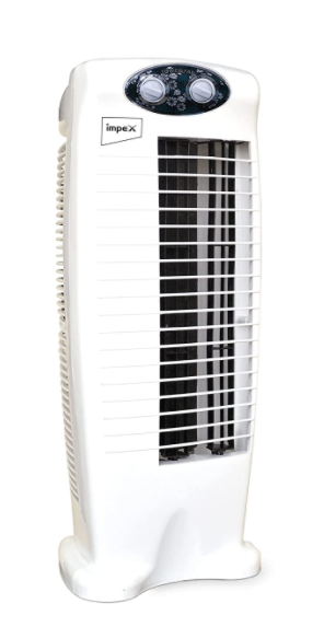 Impex TWISTER PLUS Tower Fan With 25 Feet Powerful Air Throw, 3 Speed 2 Way Air Deflection & High Speed 2250 m3/hr Air Delivery