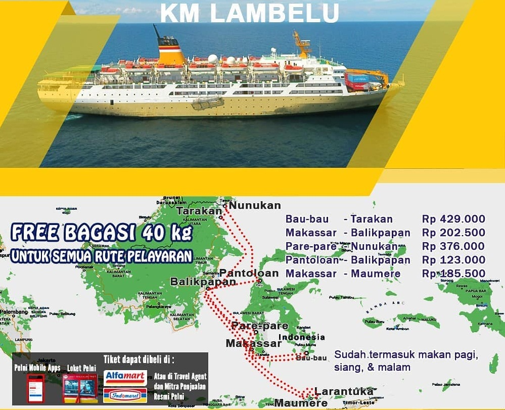 Km Lambelu Jadwal Rute Dan Harga Tiket Oktober 2019