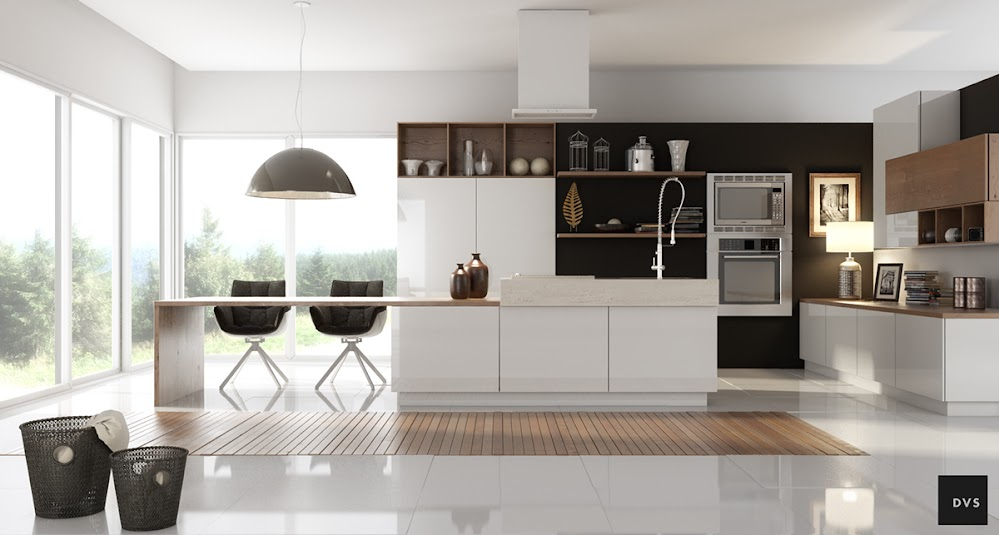 open-white-gourmet-kitchen